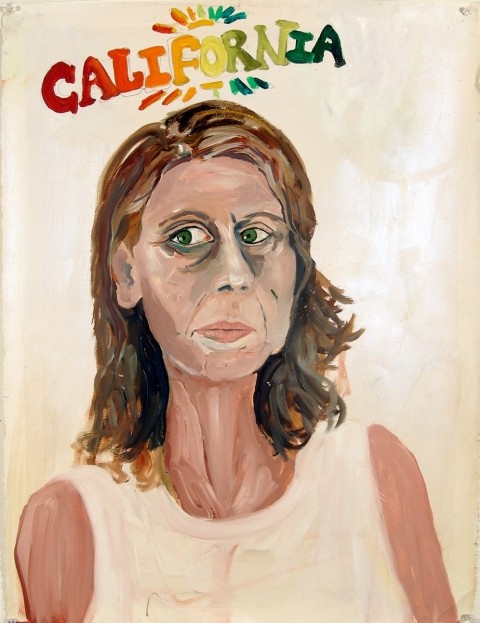 mary addison  HACKETT (2010-) Self-portraits  oil and acrylic on paper