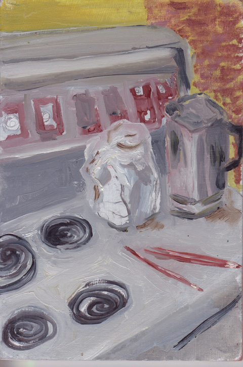 The Kitchen Paintings, 2013 04. stove