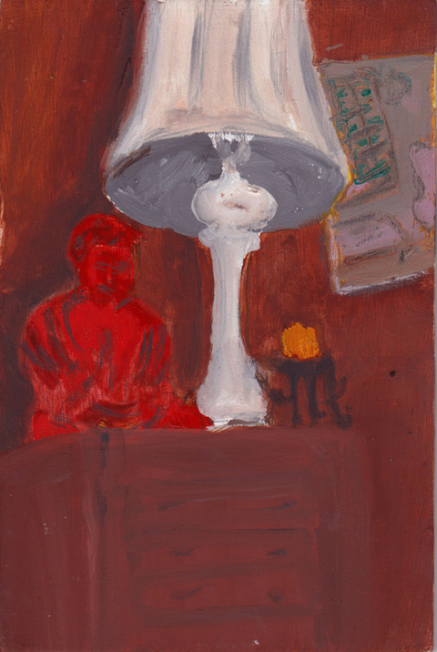 The Kitchen Paintings, 2013 16. red buddha