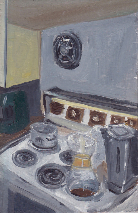 The Kitchen Paintings, 2013 22. stove
