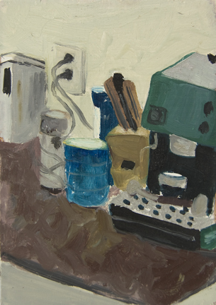 The Kitchen Paintings, 2013 25. espresso machine