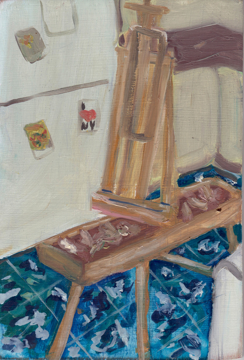 The Kitchen Paintings, 2013 29. easel.