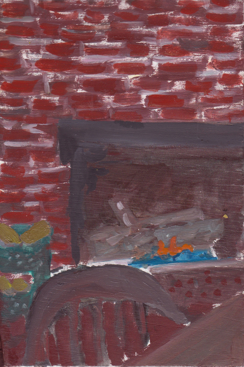 The Kitchen Paintings, 2013 23. fireplace