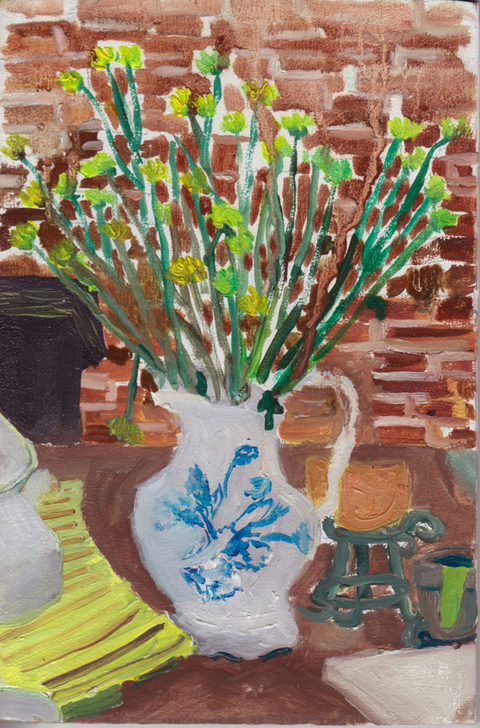 The Kitchen Paintings, 2013 32. green flowers