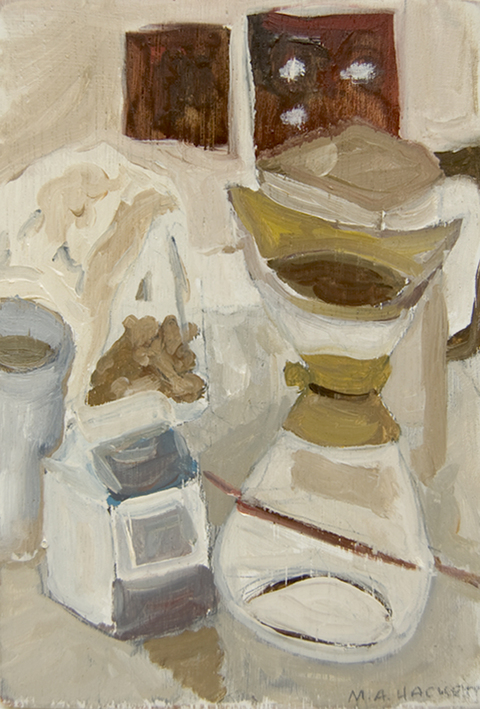 The Kitchen Paintings, 2013 39. coffee and creamer