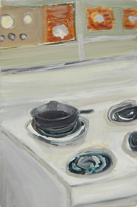 The Kitchen Paintings, 2013 44. skillet