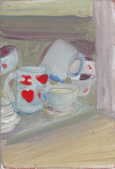 The Kitchen Paintings, 2013 01. i heart heart mug (CJ)