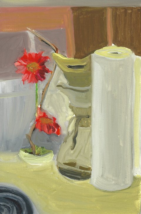 The Kitchen Paintings 54. Ikebana Coffee
