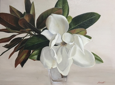 Mary Morant Flowers Oil on linen