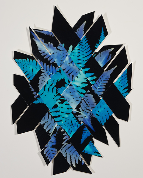 Mary Pinto Weavings Woven color photograms