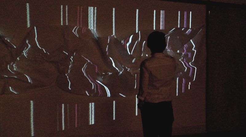 Masako Miyazaki Laces (installation) Animated digital projection on paper