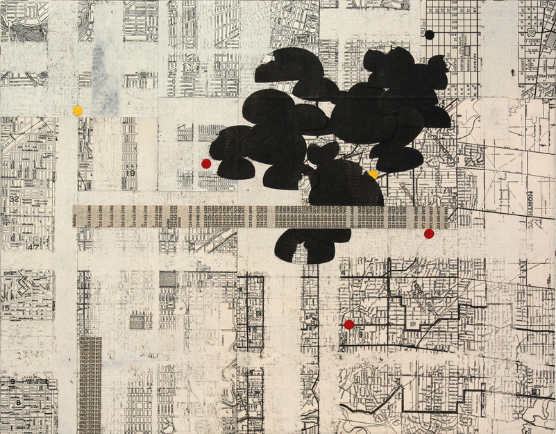 Matthew Cusick Passages Mixed paper media, sumi ink, on panel