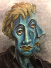 Matthew Lahm Surrealist Portraits oil on canvas
