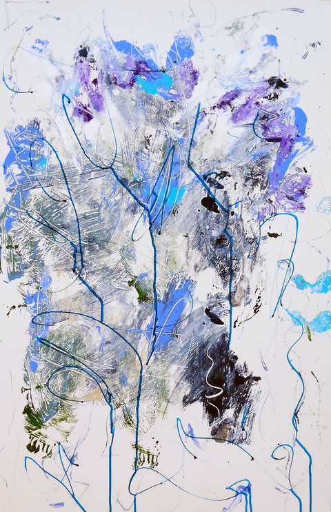 Marie-Claude Désorcy Works on paper Mixed media on yupo paper