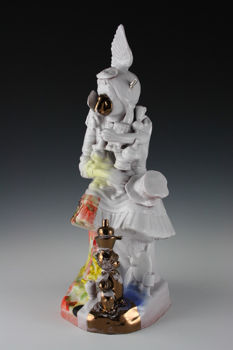 Paul McMullan Ceramic Figurines Earthenware,glaze. decals and lusters