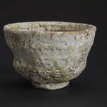 Chawan Shigaraki clay, appleid shino, natural ash galze