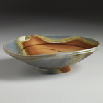 Bowls Stonware, sli inlay,, natural ash glaze