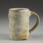 Cups and Mugs porcelaineous stoneware, white shino, natural ash glaze
