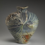 Large Forms Stoneware, sea shells, natural ash glaze