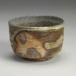 Cups and Mugs Stoneware, slip, shino liner, natural ash glaze