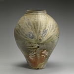 Large Forms Stoneware, shells, natural ash glaze.