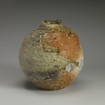 Vases, Bottles and Jars Stoneware, feldspar inclusions, sea shells, natural ash glaze.