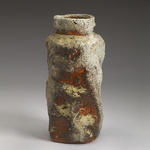 Vases, Bottles and Jars Stoneware, natural ash glaze, shino glaze liner