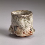 Guinomi Stoneware, shino glaze, natural ash glaze, sea shells