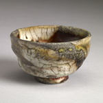 Guinomi Stoneware, red art slip, shino glaze, natural ash glaze