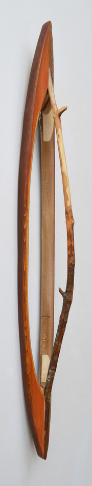 Melinda Rosenberg Boats stick, aniline dyes and paint on pine and cedar