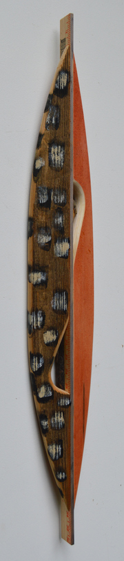 Melinda Rosenberg Boats sticks, yardstick and paint and aniline dyes on cedar and birdsye maple