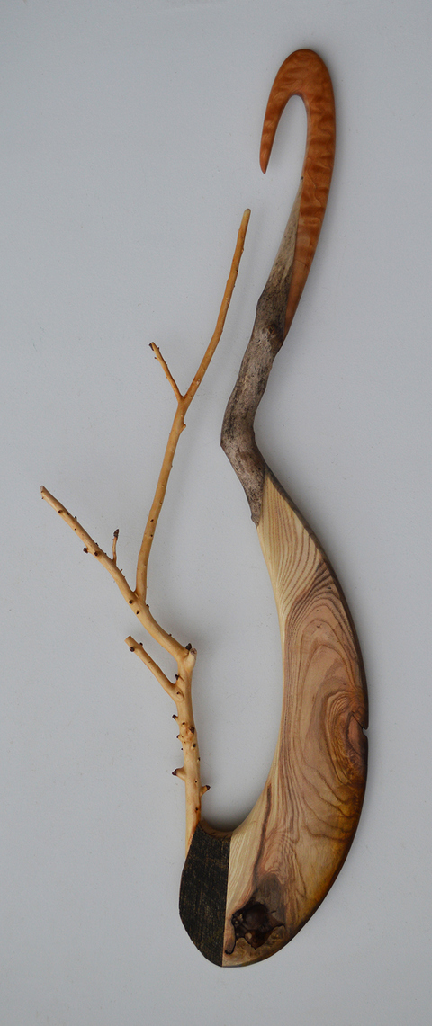 Melinda Rosenberg Stick Series quilted maple, ash and sticks