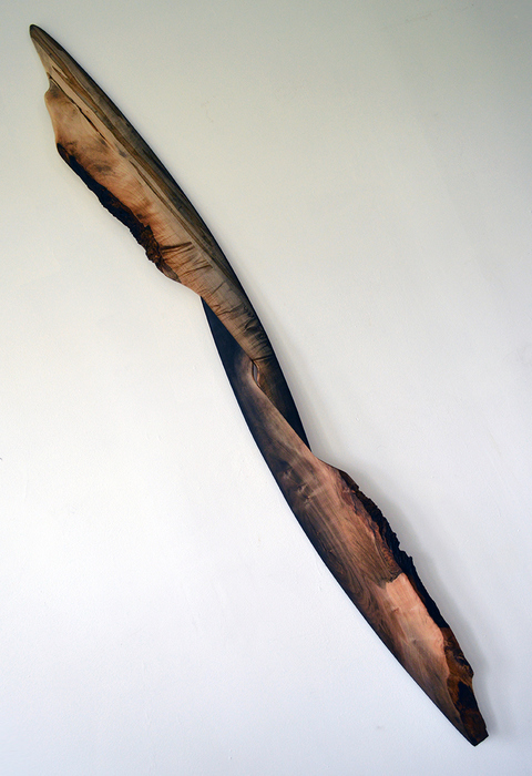 Melinda Rosenberg Stick Series black gesso on maple