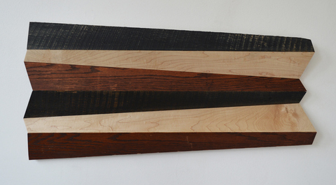 Melinda Rosenberg Bent Tool Series maple, part of a bed frame and barn siding