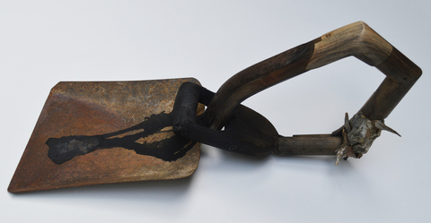 Melinda Rosenberg Bent Tool Series old shovel, found wood and paint