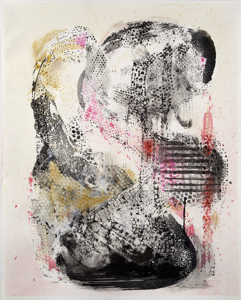 MELISSA CAPASSO Blind Navigator (2014) Ink, Watercolor & Chalk on Paper
