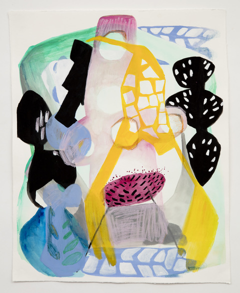 MELISSA CAPASSO Works on Paper Gouache & Colored Pencil on Paper