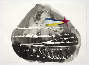 Shape of Night (2013-14) Ink & Acrylic on Paper