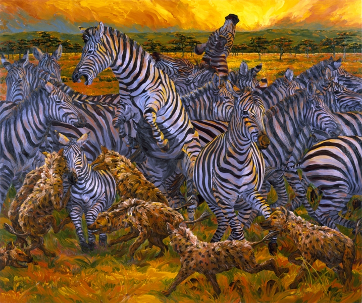Oils Zebras and Hyenas