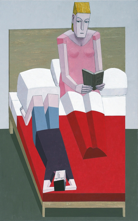 Paintings 2000 to present Reading in Bed