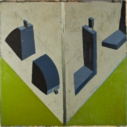 Mernet Larsen Paintings 1985 to 1999 Acrylic and paper on canvas