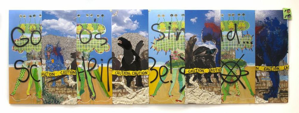 MIKE SHULTIS Fowler/Shultis Mixed Media on 8 Separate Panels