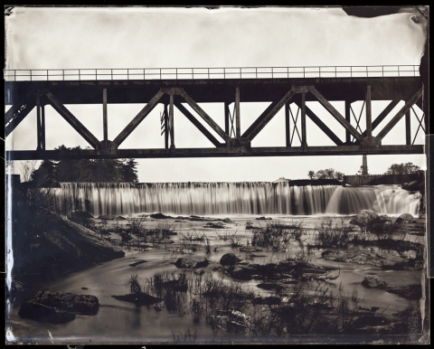 Rail Trestle, Above Great Falls, Auburn, 2011