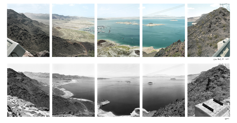 Lake Mead Overlook, 2009 (above) and 2001 (below)