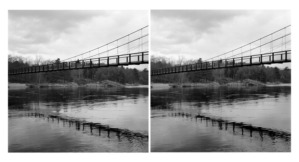 Swinging Bridge, Brunswick, Androscoggin River (ME)