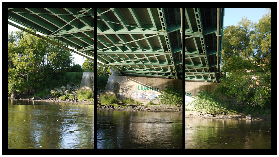 Androscoggin River (ME) Under the Bernard Lown Peace Bridge, Lewiston/Auburn, 2010
