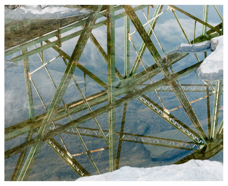 Androscoggin River (ME) Bridge Reflection, Brunswick, 2010