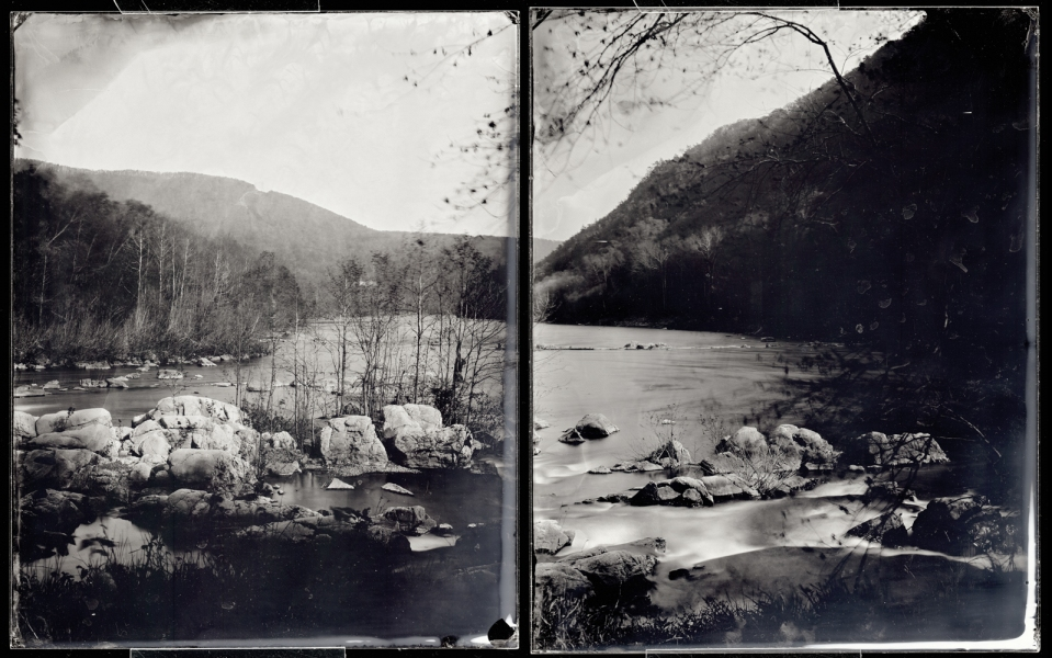 Michael Kolster James River (VA) ambrotype diptych