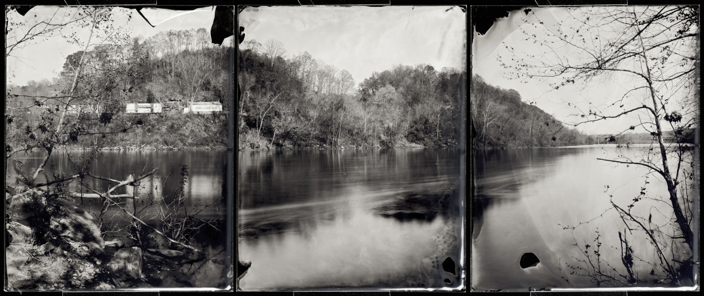 Michael Kolster James River (VA) ambrotype triptych
