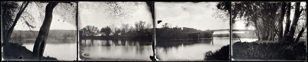 Michael Kolster James River (VA) ambrotype quadtych